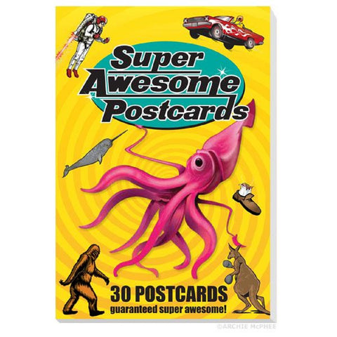 Super Awesome Postcards Book