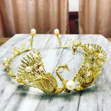 Swan Queen Business Tiara in Gold or Silver with Pearl Accents