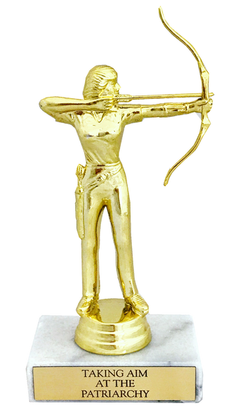 Taking Aim at the Patriarchy Trophy with Real Italian Marble