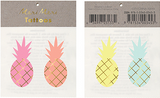 Pineapple Temporary Tattoos in Summery Neon Colors with Gold Accents