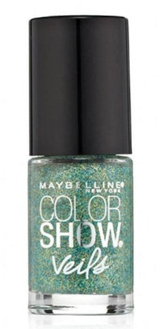 Maybelline New York Color Show Veils Nail Lacquer Top Coat - Teal ...