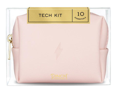 Midi Tech Kit Lightening Bolt in Blush Pink Pouch