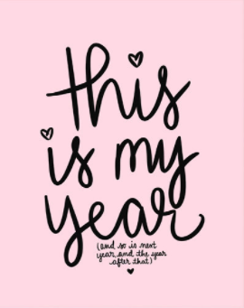 This Is My Year Art Print in Pink