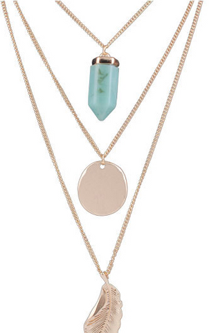 Threesome Gold Layering Necklace