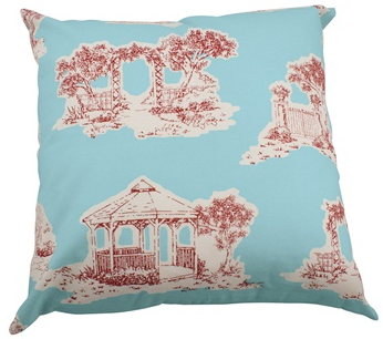 "Chic Toile 20"" Pillow Cover"