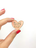 Total Babe Heart Shaped Enamel Lapel Pin