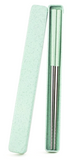 Wheat Straw Portable Travel Chopsticks in Stainless Steel (3 Color Options)