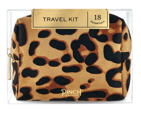 Leopard Print Travel Kit