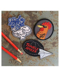 Trouble Maker Paper Airplane Iron On Patch