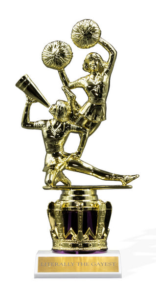 Literally The Gayest Double Cheerleader Trophy