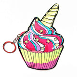 Unicorn Cupcake Pink Colorful Cute Cool Small/Mini Zip Coin/Change Purse/Bag/Pouch/Wallet