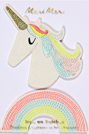 Unicorn and Rainbow Iron On Patch