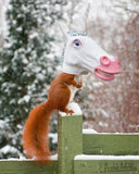 Magical Unicorn Head Squirrel Feeder | Transforms Backyard Squirrels into Magical Unicorns