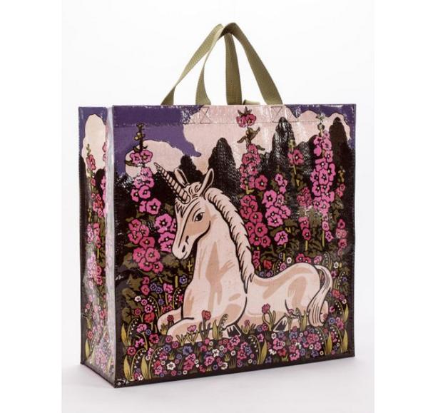Unicorn and Flowers Shopper Tote Bag