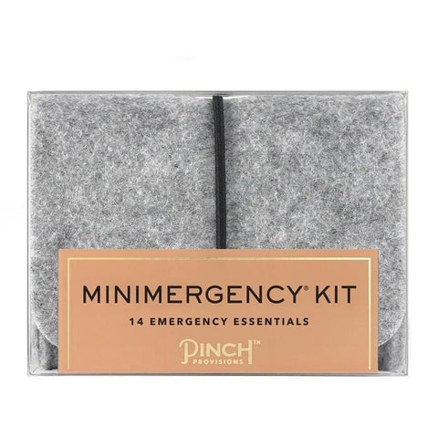 Unisex Minimergency Kit in Grey Felt Pouch
