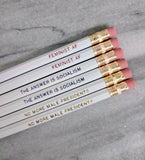 Feminist + Socialist Red, White, and Blue Political Pencil Set