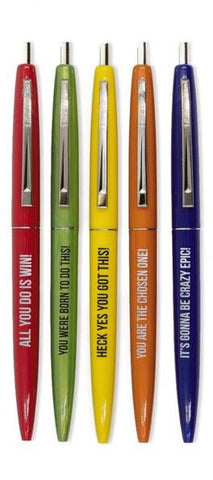 Ridiculously Motivational Pen Set in Multicolor Pack