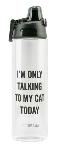 I'm Only Talking To My Cat Today Water Bottle