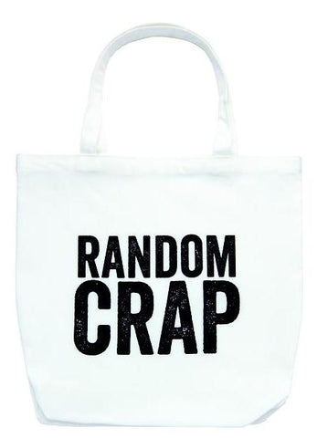 Random Crap Tote Bag in White