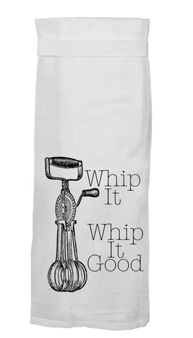Whip It, Whip It Good Flour Sack Hang Tight Towel