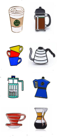 Enamel Cluster Pins - Coffee and Tea (10 options!)