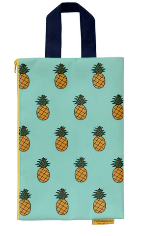 Bright Summer Pineapple Wristlet