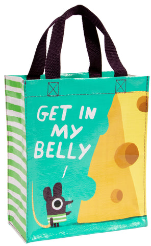 Last Call! Get In my Belly Handy Tote with Mouse and Cheese Design