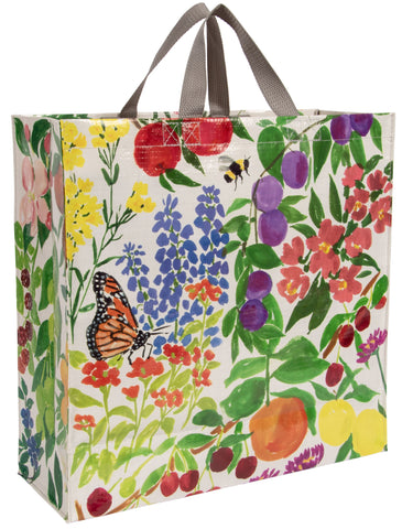 Orchard Shopper with Fruits and Flower Design