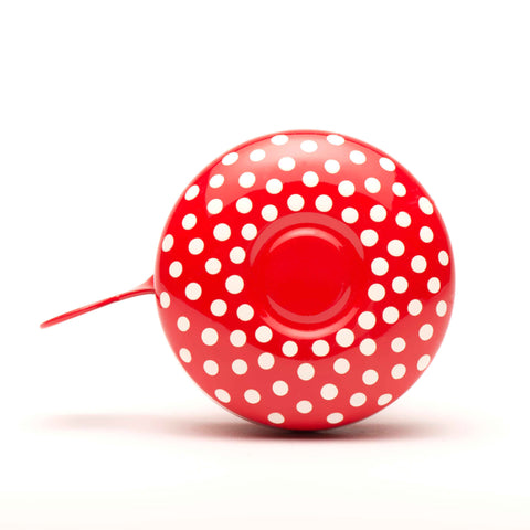 Beep Bicycle Bell - Dotted on Red