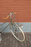Basil slim fit front bicycle carrier pictured on bicycle