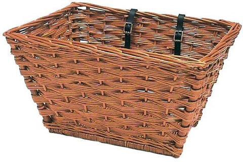 Basil Darwin rectangular wicker bicycle basket