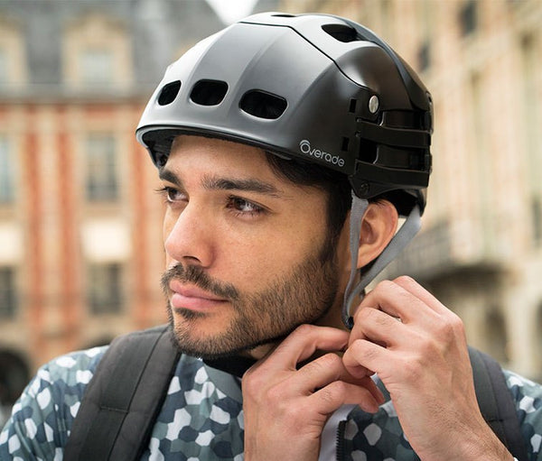 Overade Plixi Folding Helmet - Black
