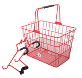 Bobbin bicycle carry basket - Red