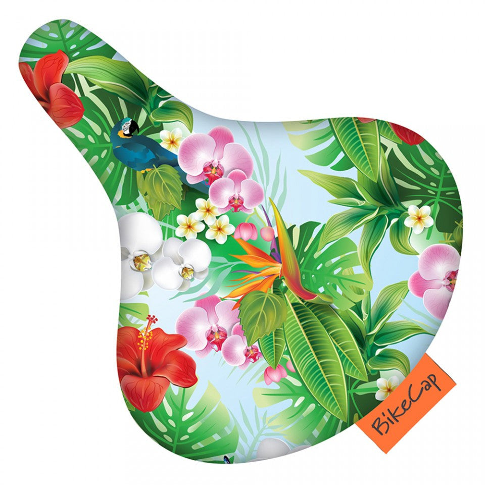 Bike cap tropical flower seat cover via cycles bike cap tropical flower seat cover izmirmasajfo