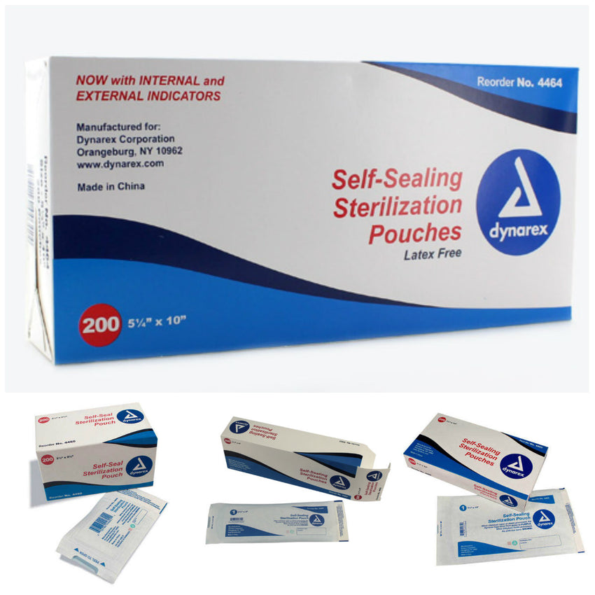 STERILIZATION POUCHES (200 PER BOX)