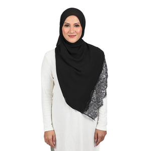 The Shawl Khaleeji - Jet Black