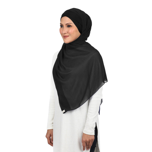 FUNCTIONAL HIJAB - JET BLACK