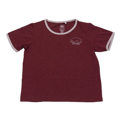 Rip Curl RC Vintage Ringer T-Shirt (Dark Red)