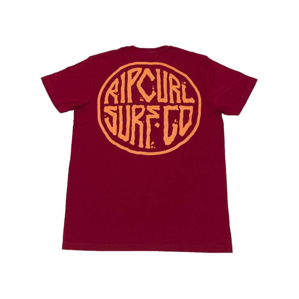 Rip Curl RC Surf. Co T-Shirt (Maroon)
