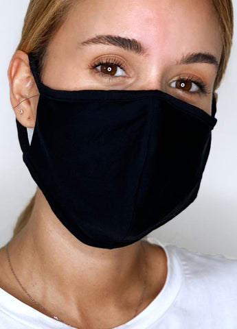 Classic Black 3 ply Face Mask