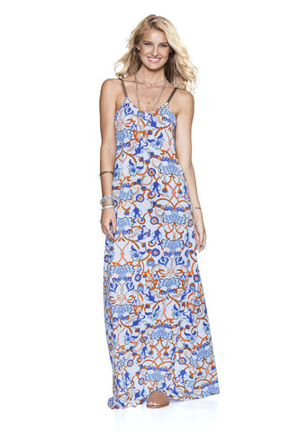 MAAJI 1240APX: Flowing Paisley Maxi Dress