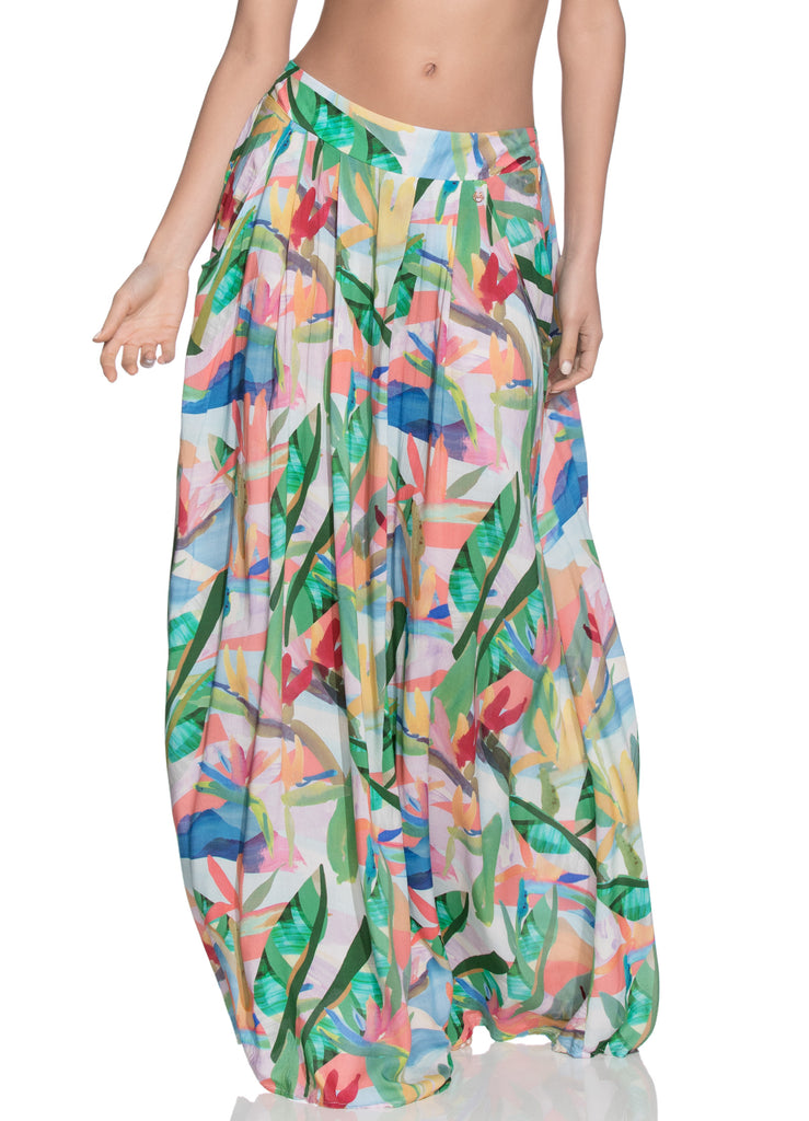 Turquoise Water Long Skirt