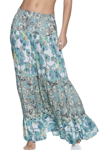 MAAJI 1489CKL01: Tropic Terrain Long Skirt