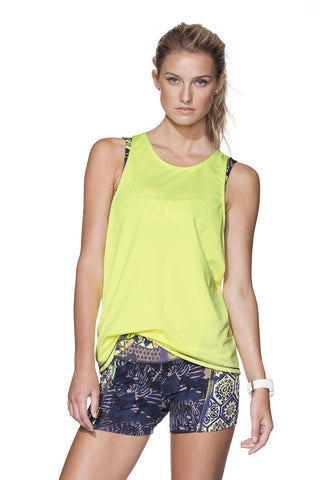 MAAJI 1504STX: LEMONY PLAYER Sports Bra with Tank Top