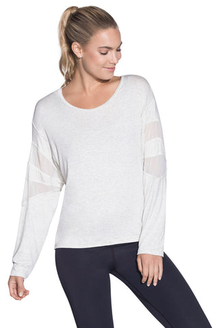 MAAJI 1787ALY02: Waterfall Cement Long Sleeve Layer