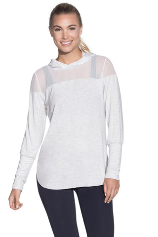 MAAJI 1834ALY02: Sheer Waves Cement Long Sleeve Layer