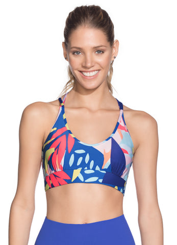 Maaji Funky Watercolor Azure High Impact Sports Bra