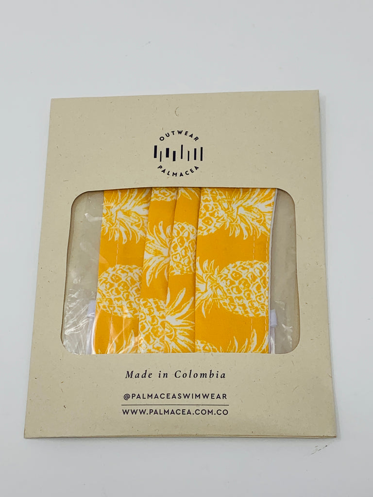 PALMACEA Yellow Pineapple Anti-fluid 3 Fold Face Mask