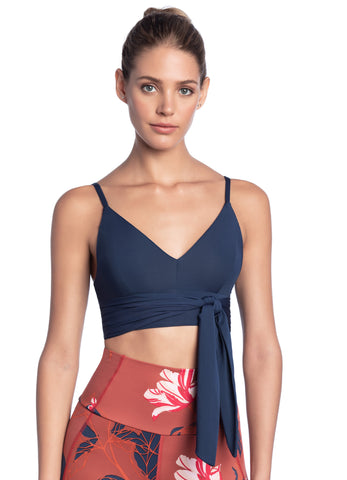 Maaji Riviera Indigo V-neck Low Impact Adjustable Sports Bra