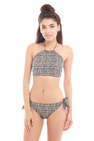 Bella Kini ASS135Y21: Noir Sands High-neck Bikini Set